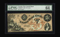 Canadian Currency: , Toronto, ON- Colonial Bank of Canada $5 May 4, 1859 Ch.130-10-04-10. A well preserved $5 that exhibits Exceptional PaperQu...