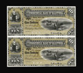 Canadian Currency: , Winnipeg, MB- Commercial Bank of Manitoba $10-$10 May 1, 1885 Ch.170-10-04P Uncut Pair Face and Back Proofs. This is a rare...