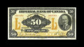 Canadian Currency: , Toronto, ON- Imperial Bank of Canada $50 Nov. 1, 1923 Ch.375-18-14. Even wear has produced a small circulation aperture at...