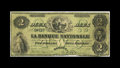 Canadian Currency: , Quebec, PQ- La Banque Nationale $2 May 25, 1860 Ch. 510-10-04-08.The 1860 issue for this bank is very elusive. Very Good....