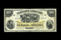 Canadian Currency: , Quebec, PQ- La Banque Nationale $10 Jan. 2, 1897 Ch. 510-20-08. Asmall hole is at center of this $10 that was once wet. G...