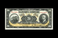 Canadian Currency: , Quebec, QC- La Banque Nationale $20 Nov. 2, 1922 Ch. 510-22-06S Specimen. Original surfaces on this $20 that has a tight top...