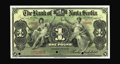 Canadian Currency: , Kingston, Jamaica- Bank of Nova Scotia £1 Jan. 2, 1919 Ch.550-38-02-02S Specimen.. Strong embossing, full margins, and nic...