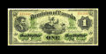 Canadian Currency: , DC-2b $1 1870. A second example of this very tough note. This piece has good color and body for the grade, although there ar...