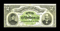 Canadian Currency: , DC-11 $2 1887. The second of three DC-11 examples in thiscollection. The reverse is printed in two colors, black andgreen,...