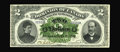 World Paper Money: , DC-11-i $2 1887. This lovely note is one of the most significant items in the Halton Lake collection. This series, bearing t...