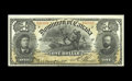 Canadian Currency: , DC-13c $1 1898. An unusually high grade example, with great color and freshness. There is a slight center bend, but other th...