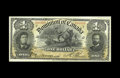 Canadian Currency: , DC-13c $1 1898. A virtual duplicate of the note above, and onlyseven serial numbers away. Just a minor center bend and a sm...
