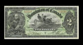 Canadian Currency: , DC-14c $2 1897. A nice circulated example. Very Fine.. From The Halton Lake Collection...