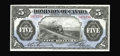 """Canadian Currency: , DC-21c $5 1912. A lovely example of the always popular """"train"""" notewith better than normal centering for this issue. This p..."""