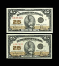 "Canadian Currency: , DC-24a 25¢ 1923. Two Examples. Here are two ""Authorized"" issues.The Extremely Fine note has four wide margins and the ... (Total: 2notes)"