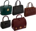 Luxury Accessories:Bags, Antique Set; Hermes Black Crocodile Pullman Bag, Hermes MielCrocodile Pullman Bag, Hermes Rouge H Sac a Malette Bag, GucciBa... (Total: 5 Items)