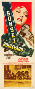 "Movie Posters:Film Noir, Sunset Boulevard (Paramount, 1950). Insert (14"" X 36"") and LobbyCards (4)(11"" X 14"").. ... (Total: 5 Items)"
