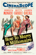 "Movie Posters:Comedy, How to Marry a Millionaire (20th Century Fox, 1953). One Sheet (27""X 41"").. ..."