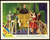 """The Wizard of Oz (MGM, R-1949). Lobby Card (11"""" X 14"""") and Autograph. ... (Total: 2 Items)"""