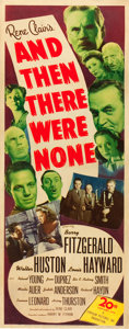 "Movie Posters:Mystery, And Then There Were None (20th Century Fox, 1945). Insert (14"" X36"").. ..."