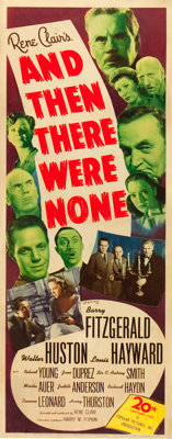 """And Then There Were None (20th Century Fox, 1945). Insert (14"""" X 36"""")"""