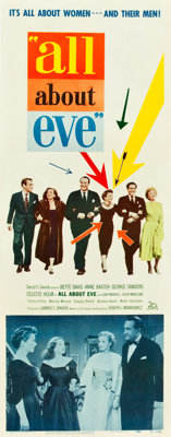 """All About Eve (20th Century Fox, 1950). Insert (14"""" X 36"""")"""