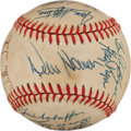 Baseball Collectibles:Balls, 1985 Kansas City Royals Team Signed Baseball....