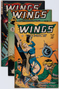 Golden Age (1938-1955):War, Wings Comics #89, 96, and 114 Group (Fiction House, 1948-51)Condition: Average VG/FN.... (Total: 3 Comic Books)