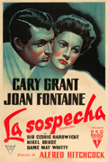 "Movie Posters:Hitchcock, Suspicion (RKO, 1941). Argentinean One Sheet (28.75"" X 43.5"").. ..."