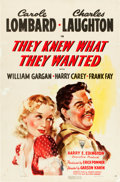"""Movie Posters:Drama, They Knew What They Wanted (RKO, 1940). One Sheet (27"""" X 41"""").. ..."""
