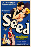 """Movie Posters:Drama, Seed (Universal, 1931). One Sheet (27"""" X 41"""") Blue Style.. ..."""