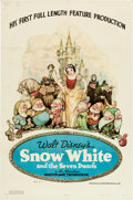 "Movie Posters:Animation, Snow White and the Seven Dwarfs (RKO, 1937). One Sheet (27"" X 41"") Style B.. ..."