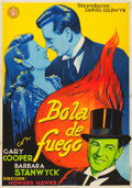 """Movie Posters:Comedy, Ball of Fire (RKO, 1941). Spanish One Sheet (27"""" X 38.75"""").. ..."""