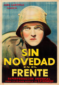 "Movie Posters:Academy Award Winners, All Quiet on the Western Front (Universal, 1930). Spanish One Sheet (27.5"" X 39.25"").. ..."
