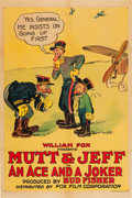 "Movie Posters:Animated, Mutt & Jeff in An Ace and a Joker (Fox, 1918). One Sheet (27"" X41"").. ..."