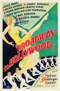 "Movie Posters:Musical, Broadway to Hollywood (MGM, 1933). One Sheet (27"" X 41"") Style D.From the Leonard and Alice Maltin Collection.. ..."