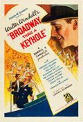"Movie Posters:Musical, Broadway Through a Keyhole (United Artists, 1933). One Sheet (27"" X41""). From the Leonard and Alice Maltin Collection...."