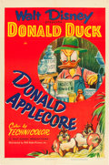 "Movie Posters:Animated, Donald Applecore (RKO, 1952). One Sheet (27"" X 41""). From theLeonard and Alice Maltin Collection.. ..."