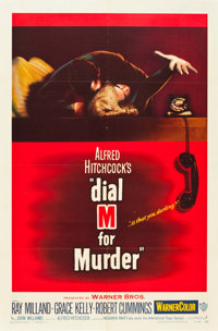 "Dial M for Murder (Warner Brothers, 1954). One Sheet (27"" X 41""). From the Leonard and Alice Maltin Collection..."