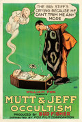 "Movie Posters:Animation, Mutt and Jeff in Occultism (Fox, 1918). One Sheet (28"" X 41"").From the Leonard and Alice Maltin Collection.. ..."