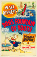 "Movie Posters:Animation, Don's Fountain of Youth (RKO, 1953). One Sheet (27"" X 41""). Fromthe Leonard and Alice Maltin Collection.. ..."