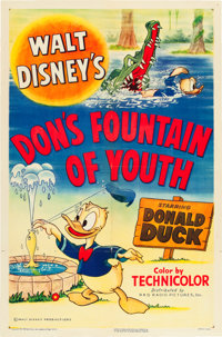 "Don's Fountain of Youth (RKO, 1953). One Sheet (27"" X 41""). From the Leonard and Alice Maltin Collection"