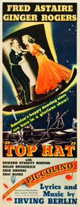 "Movie Posters:Musical, Top Hat (RKO, 1935). Insert (14"" X 36"").. ..."