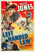 "Movie Posters:Western, Left-Handed Law (Universal, 1937). One Sheet (27"" X 41"").. ..."