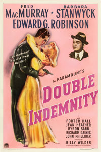 """Double Indemnity (Paramount, 1944). One Sheet (27"""" X 41"""")"""