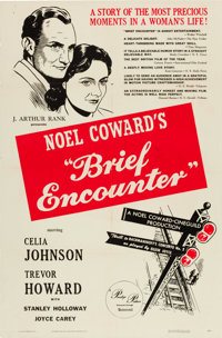 "Brief Encounter (Universal International, 1946). One Sheet (27"" X 41"") and Lobby Card Set of 8 (11"" X 14&..."