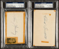 Baseball Collectibles:Others, Yawkey and Griffith Signed Index Cards. ...