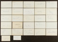 Autographs:Index Cards, Baseball Greats Signed Index Cards Lot Of 54....