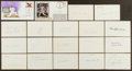 Autographs:Index Cards, Baseball Stars Signed Index Cards Lot Of 36....