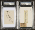 Baseball Collectibles:Others, Mountain Landis and Branch Rickey Signed Index Cards. ...