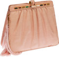 Luxury Accessories:Bags, Judith Leiber Baby Pink Lizard Small Bag. ...