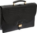 Luxury Accessories:Bags, Morabito Black Alligator Briefcase. ...