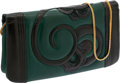 Luxury Accessories:Bags, Judith Leiber Green and Black Leather Clutch. ...