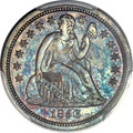 Proof Seated Dimes, 1856 10C Small Date PR65 PCGS. CAC. Fortin-101....